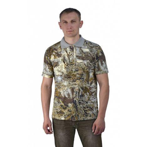 Рубашка-поло серый мох