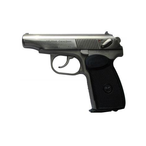 Пневматический пистолет МР 654К-24 (белый корпус,белый затвор,обновлённая рукоятка) 4,5 мм