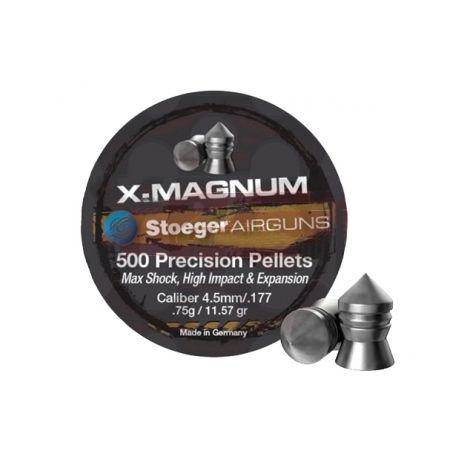 Пули пневматические Н&N Stoeger X-Magnum 4,5 мм 0.75 г/11.57 гр (500 шт.)