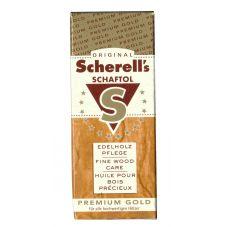 Средство по уходу за ружейной ложей и древесиной Scherell Schaftol (premium gold) на осн. льняного масла 75 мл.