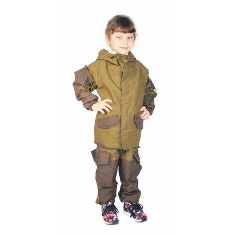 Костюм «Горка палатка» детский (ткань: палатка, цвет: темн. хаки) Квест