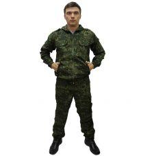 Костюм «Спецназ» (ткань рип-стоп, цвет т.зеленая цифра) 7.62