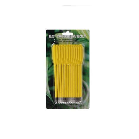 Дротики для арбалетов-пистолетов пластиковые желтые (12 шт.)