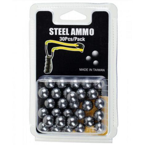 Шарики стальные для рогаток 10 мм 30шт.