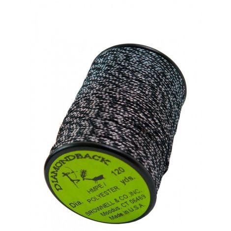 Обмоточная нить Brownell Diamondback Black/White 0,022