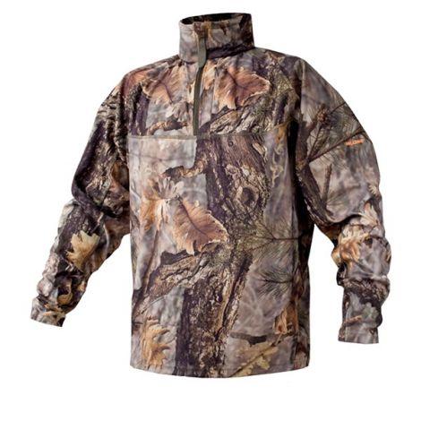 Флисовая куртка-поло ForestGreen