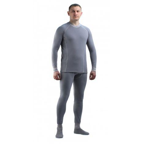 Термобельё в комплекте (фуфайка. кальсоны) EcoDry RealMan (серый.)