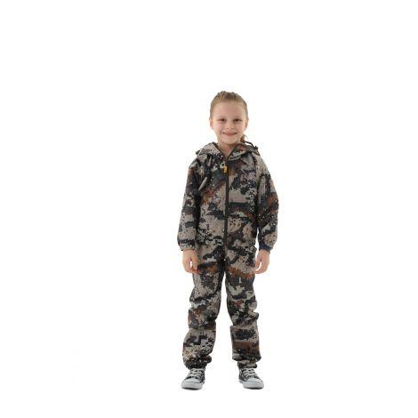 Костюм «Грибник» детский (ткань: оксфорд, цвет: геометрия бежевая) Маугли