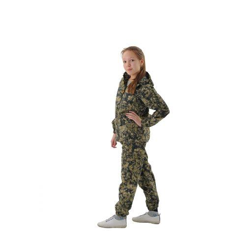 Костюм «Лесовик» детский (ткань: сорочка, цвет: малахит) Маугли