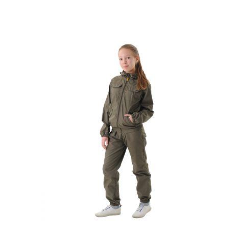 Костюм «Пионер» детский (ткань: сорочка, цвет: хаки) Маугли