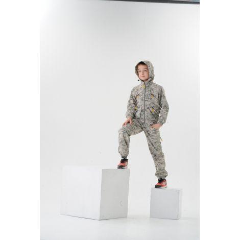 Костюм «Рысь» детский (ткань: смесовая, цвет: цифра белая) Маугли