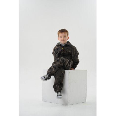Костюм «Спецназ» детский (ткань: смесовая рип-стоп, цвет: черный мультикам) Маугли