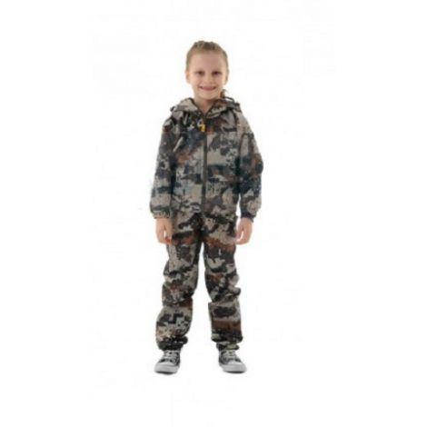 Костюм «Барс» детский (ткань: полофлис, цвет: геометрия охра) Маугли