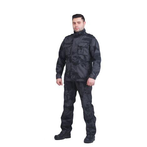 Костюм «Рест Сити» (ткань рип-стоп, цвет черный камуфляж) Payer