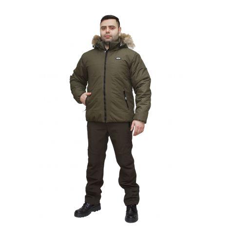 """Куртка """"Партизан NEW"""" (таслан, хаки) (с мехом) Payer"""