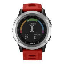 Garmin FENIX® 3 HRM Серебряный с красным ремешком и пульсометром