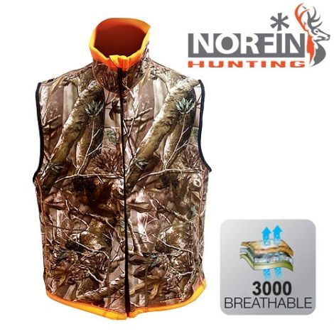 Жилет Norfin (Норфин) Hunting REVERSABLE VEST PASSION/ORANGE