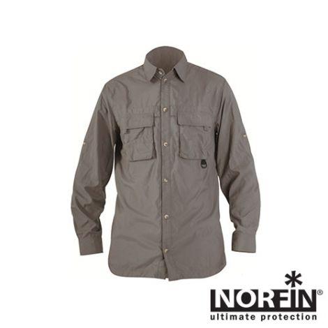 Рубашка Norfin (Норфин) COOL LONG SLEEVES GRAY