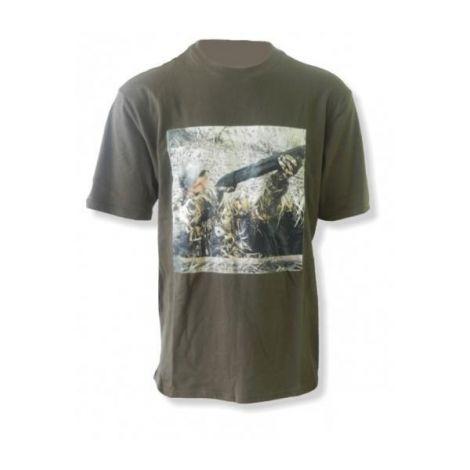 Джемпер (футболка, хлопок) с коротким рукавом Remington (зеленый)