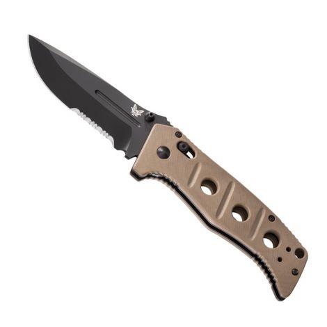 Тактический складной нож Benchmade 275SBKSN Adamas (чёрный с серрейтором песчаная рукоятка)
