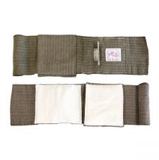 Эластичный марлевый бинт с клапаном давления, двумя подушками и петлевой ручкой (15 х 18 см) First Care