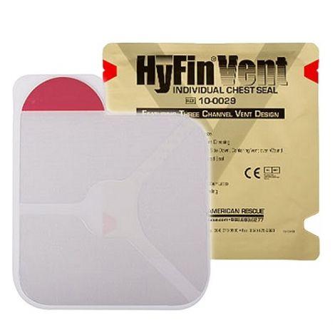 Клейкий пластырь с 3-мя каналами для сброса давления (6Х6 дюймов) Hyfin Vent Chest Seal North American Rescue