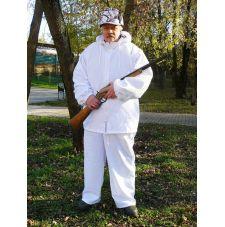 Халат маскировочный для зимней охоты
