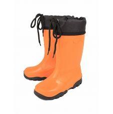 Детские резиновые сапожки с утеплителем (Оранжевый)