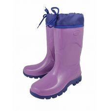 Школьные резиновые сапожки с утеплителем (Фиолетовый)