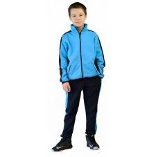 "Костюм детский трикотажный ""ТИгР"" т.синий с голубым (куртка + брюки 100%х/б)"