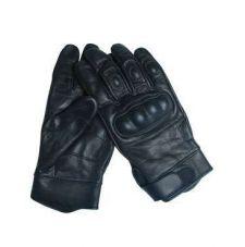 Перчатки тактические с костью кожаные, цвет Black