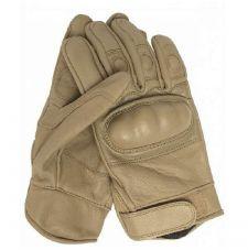 Перчатки тактические с костью кожаные, цвет Coyote