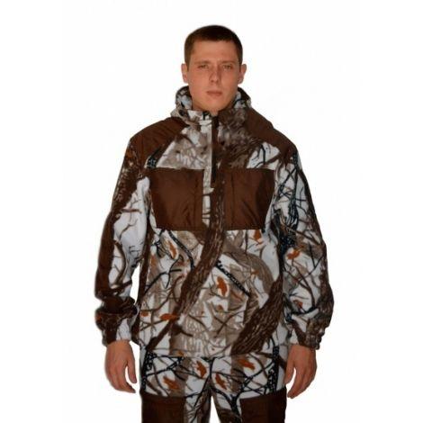 """Флисовый костюм """"Сурок"""" кмф """"Белый лес"""" с накладками,300г/м2"""