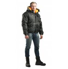 """Куртка укороченная мужская """"Аляска"""" зимняя. чёрная"""